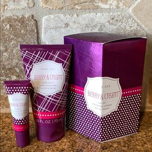 NWT Mary Kay Berry and Cream Gift Set Lotion Lips
